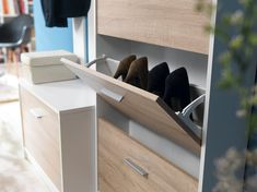 Modern slim space saving storage for organising shoes in your bedroom, hallway or porch. Affordable and sturdy. Hallway Furniture, Cheap Furniture, Shoe Storage Rack, Shoe Rack, Cloakroom Storage, Modern Hall, Sonoma Oak, How To Store Shoes, Space Saving Storage