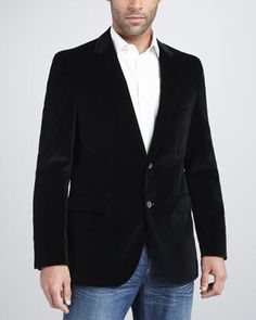 Hugo Boss Velvet Blazer, Black    $595.00