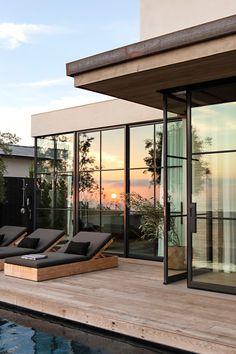 Modern patio design Modern Deck, Modern Pools, Creative Deck Ideas, Wood Pool Deck, Deck Design, House Design, Eric Olsen, Design Your Own Home, Pools
