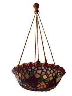 1905 Arts & Crafts Art Nouveau Hanging Light SOLD: Au Fil de l'Eau Antiques