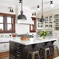 """Hanging Pendant Light """"Pendants should hang 12-20 inches below an 8-foot ceiling. For each additional foot, add 3 inches.  Provide a 30- to 36-inch clearance above tables and countertops. This is the most practical height, especially for pendants used for task lighting. Consider creating a system to raise or lower the lighting"""""""