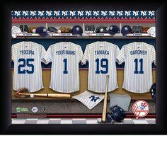 New York Yankees MLB Locker Room Sign - Personalized