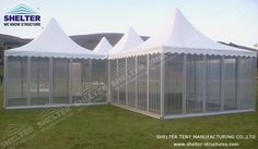 Pagoda Marquee - the Shelter Pagoda Tent is very popular home and abroad. Alone or in an ensemble, it offers an attractive tent architecture for a multitude of uses. Membrane Structure, Roof Structure, Shade Structure, Gazebo Canopy, Backyard Gazebo, Luz Natural, Large Tent, Lightweight Tent, Shelter Tent