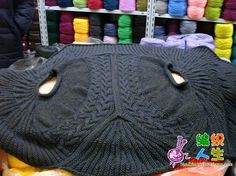 Circle Clothing describing this sweater knit in a circle.  Shows a scheme for doing so.  This site is in Chinese, I think.
