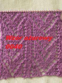 Wzór ażurowy 0040**Robótki  na drutach *Dzierganie dla początkujących*Tu...