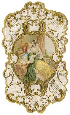 Antique French Perfume Label | Flickr: Intercambio de fotos
