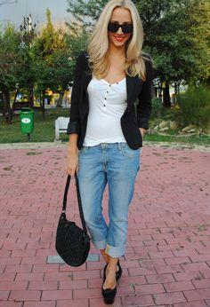 Boyfriend jeans  , H&M in Blazers, Zara in Jeans