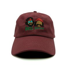 Best Buds Dad Hat - Relaxed adjustable hat - Best Buds embroidered on the front - 6-panel - Solid colorway - 100% cotton