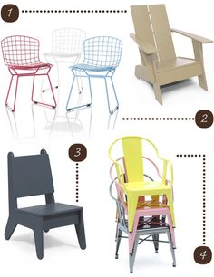 Outdoor Chairs for Kids - Featuring Loll Designs Kids Adirondack chair and BBO2 Chair designed by notnuetral