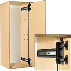 Knape and Vogt KV Self Closing Inset Hinge Kit 8080 8092 Pocket Door