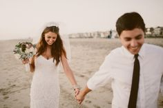 Intimate beach wedding in Manhattan Beach // Gina & Ryan Photography