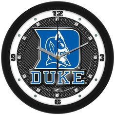 Duke Blue Devils - Carbon Fiber Textured Wall Clock