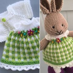 A bit of green for St. Knitted Bunnies, Knitted Animals, Knitted Dolls, Crochet Dolls, Knit Crochet, Crochet Hats, Animal Knitting Patterns, Crochet Patterns, Knitting Projects