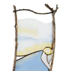Your place to buy and sell all things handmade Modern Stained Glass, Making Stained Glass, Stained Glass Crafts, Stained Glass Panels, Wall Sculptures, Sculpture Art, Sticks And Stones, Nuno Felting, Copper Color