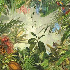 vliesbehang - fotobehang jungle - komar