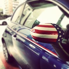 Show your pride for the USA with pinstripes and custom mirror caps!