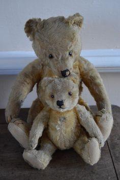 2 Vintage Steiff Teddy Bears