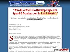 (adsbygoogle = window.adsbygoogle || []).push();     (adsbygoogle = window.adsbygoogle || []).push();  Explosive Speed Training Guide – Speed Training Workouts and Drills    http://www.explosivespeedtraining.com/ review  The Most Comprehensive Speed Training And Quickness Training...
