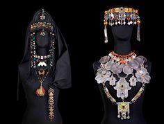 Africa | Berber jewellery on display at the Berber Museum of the Jardin Majorelle