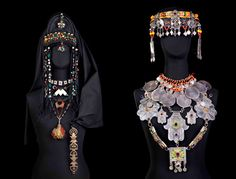 Africa | Berber jewellery on display at the Berber Museum of the Jardin Majorelle
