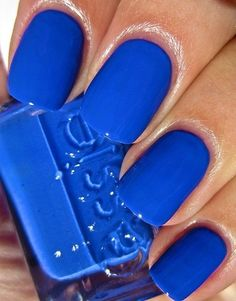 Essie - Butler Please. Too bad Essie has formaldehyde otherwise I'd be all over this. Blue Nail Polish, Essie Nail Polish, Blue Nails, Nagel Gel, Cute Nail Designs, Art Designs, Manicure And Pedicure, Beauty Nails, Hair Beauty