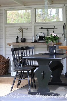 Relaxing Places, Minimal Home, Cabin Interiors, Summer Kitchen, Interior Decorating, Interior Design, Log Homes, Kitchen Decor, Cottage