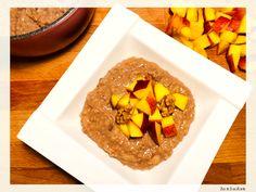 Terci de ovaz cu cacao si alune Deserts, Dairy, Cheese, Cacao, Food, Diet, Essen, Postres, Meals