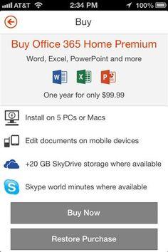 Lightweight Microsoft Office Available on iPhone , NewsScream