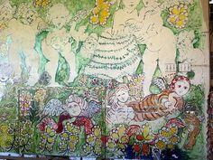 Mirka Mora mural at Tolarno
