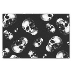 Shop Skull Gothic Halloween Wedding Tissue Paper created by UrsaThorn. Gothic Halloween, Halloween Skull, Halloween House, Halloween Gifts, Halloween Decorations, Paper Halloween, Halloween Kitchen, Skull Wedding, Gothic Wedding