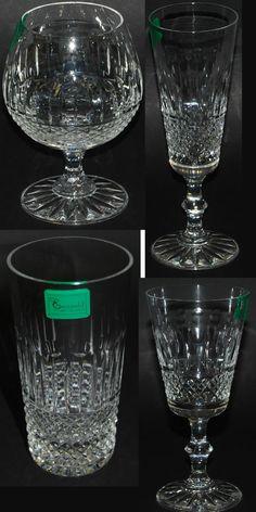 Swartons Emmerald 24% Lead Crystal Set of 6 Wine Glass Brandy Champagne Flutes  #Swartons