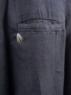 Lovely pocket detail by designer Umit Unal. via Robin Richman