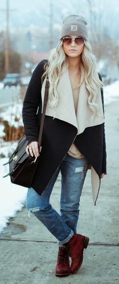 I have jean and a hat that's similar to the one featured here. Love the coat and boots.