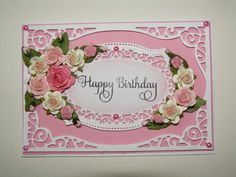 Cotswold Crafter: Pretty Pink Floral Birthday!