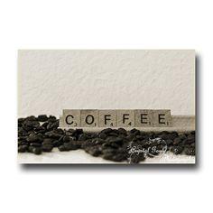 Scrabble Tiles Coffee Fine Art Photography by CrystalGaylePhoto, $16.00 #etsysns #handmadebot