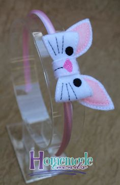 Animal Hair Accessory-Bunny Accessory-Felt Bunny Bow-Rabbit Hair Accessory-Bunny…