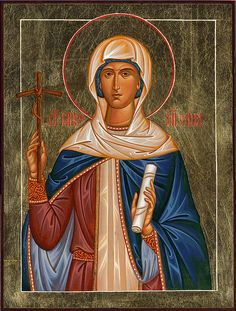 Nina of Georgia, Equal to the Apostles by Paul Drozdowski Religious Images, Religious Icons, Religious Art, Byzantine Icons, Byzantine Art, Russian Icons, Russian Art, Faith Of Our Fathers, St Clare's