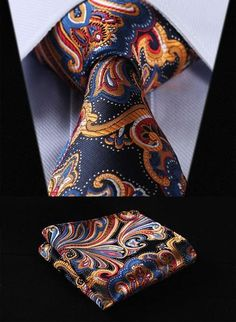 Treat yourself with one of our Tie Sets. What You Get: Tie & Pocket Square. Material: Silk Full Tie Length: End Hankerchief We offer FREE International Shipping World Wide! Extra Long Ties, Tie And Pocket Square, Pocket Squares, Paisley Tie, Cufflink Set, Wedding Ties, Party Wedding, Dress Wedding, Men's Clothing