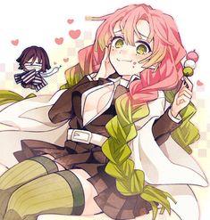 ❤Anime: Demon slayer/kimetsu no yaiba 🌸Waifu: Mitsuri kanroji pilar del amor. Kawaii Anime Girl, Anime Art Girl, Manga Art, Demon Slayer, Slayer Anime, Anime Angel, Anime Demon, Cute Art, Anime Characters