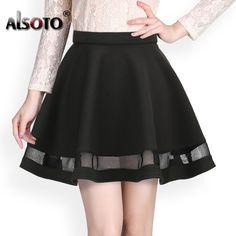 ファッショングリッドデザイン女性スカート弾性段faldas女性ミディスカートセクシーな女の子ミニプリーツスカートsaias韓国服