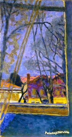 Landscape through a Window Artwork by Pierre Bonnard Hand-painted and Art Prints on canvas for sale,you can custom the size and frame