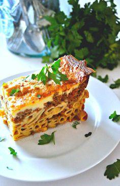 Pastichio- Greek Style Lasagna - Under Italian, Pasta