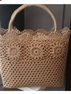"Crochet_Tutorial - ""Outstanding Crochet: Limited time free pattern/tutorial for Crochet Summer Tote Bag. Crochet Tote, Crochet Handbags, Crochet Purses, Crochet Stitches, Crochet Baby, Knit Crochet, Crochet Patterns, Knitted Gloves, Knitted Bags"