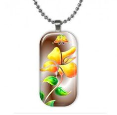 Summertime Floral Glass Pendant by hcltreasures196 for $12.00