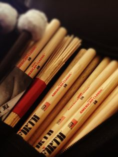Vic Firth drum sticks rule, but how do you know which pairs are matched in this bag? Add StickMan! http://stickmanager.com/products/stickman  Use StickMan to match each drum stick with the other, forever!