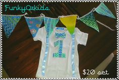 Onesie and bunting boys set