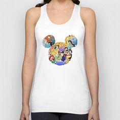 Princess Mickey Ears Unisex Tank Top by Katie Simpson  - $22.00