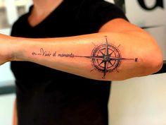 Compass Tattoo Forearm, Cross Tattoo On Wrist, Cross Tattoo For Men, Cool Forearm Tattoos, Arm Band Tattoo, Small Back Tattoos, Simple Arm Tattoos, Small Tattoos For Guys, Armband Tattoo Design