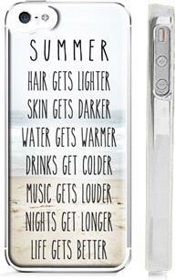 """Trendy Summer Beach Life iPhone 5s Case - Quote: """" Hair gets lighter, Skin gets darker, Water gets warmer, Drinks get colder, Music gets louder, Nights get longer, Life gets better"""" @http://amazon.com Price: $4.95 + $3.95 shipping"""