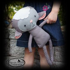 Sheep or Lamb Rag Doll Plush - Joei - Made To Order.